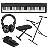 Kawai ES110 88-Keys Portable Digital Piano (Black), Bundle Includes Bench, Stand, Damper Pedal and H&A Studio Headphones