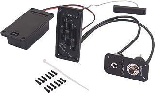 Artibetter Violin Jack Bridge Pickup EQ amplificador para accesorios de violín eléctrico de 2,5 mm (negro)