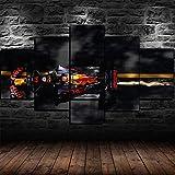 GUOJUNKE Max Verstappen F1 Red Bull Racing 5 Panel Leinwand