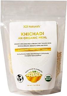 YO1 Naturals Organic Khichadi 7 oz. An Organic Meal with Organic Long Grain Rice, Organic split yellow mung beans & organi...