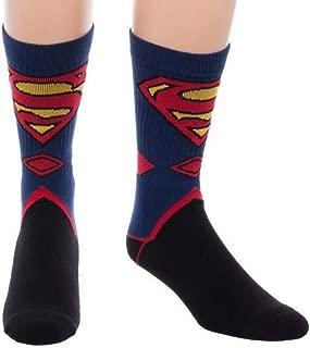 Superman Suit Up Crew Socks, Black