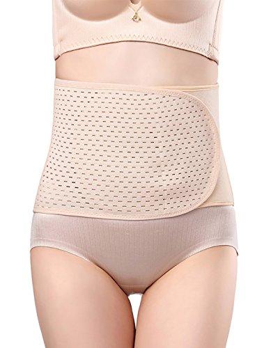 Aivtalk - Faja Abdominal de Posparto Cinturón Postparto Mujer Cinturón para Adelgazar Reducir el Dolor para Recuperar la Forma Transpirable y Ajustable - Beige