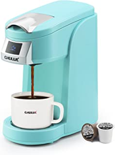 CHULUX Single Cup Coffee Maker Machine,12 Ounce Pod Coffee Brewer,One Touch Function for Brewing Capsule or Ground Coffee,...