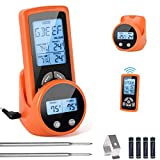 Wireless Meat Thermometer,Safe Cooking Food Thermometer ,Remote Digital Accurate Instant Read for...