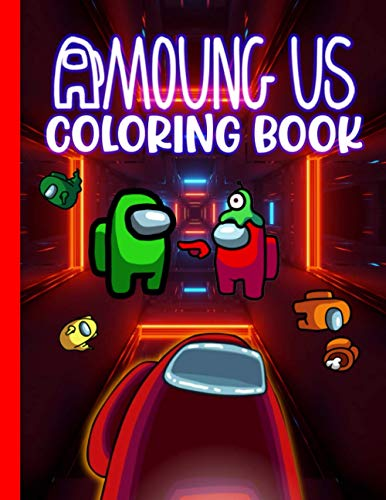 Amoung Us Color Book: 50+ Coloring Pages with Amoung Us Characters, Cr
