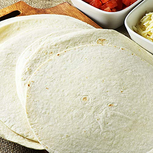 """ミートガイ 冷凍フラワートルティーヤ (8インチ 12枚) 直径約20cm Frozen Flour Tortillas (8"""" 12pc)"""