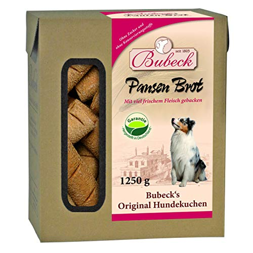 BUBECK | Kaustange für Hunde 10 Kg | Pansenbrot Hundekuchen | hart gebacken