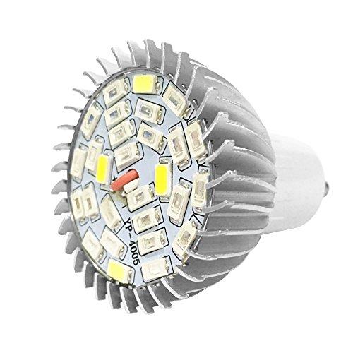 Lampada di crescita 28W 28LED, illuminazione pieno spettro con 7 lunghezze d'onda per orticultura, lampadina AC85-265V per piante, fiori e verdura per interni, serre, giardini, E14, GU10, E14