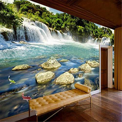 3D-muurbehang, vlies, personaliseerbaar, fotobehang, 3D-waterval, natuur, landschap, grote muurschilderingen, woonkamer, slaapkamer, achterwand, wandbehang 400cm*280cm