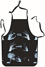 Apron Designs Painted Apron Skull Printed Apron for Home Cooking (Black)