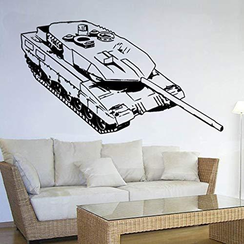 Copytec Panzer 2A6 Bundeswehr Moderner Kpz Kettenfahrzeug Heer Truppe- Wandschmuck Wandtattoo Aufkleber (ca. 45x120cm schwarz) #3561