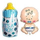 Ceqiny Juego de 2 globos para bebé niño globos papel aluminio globos Mylar es...