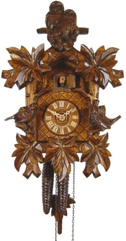 辛な傑作評議会鳩時計 フクロウ2匹