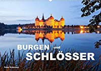 Burgen und Schloesser (Wandkalender 2022 DIN A2 quer): 13 eindrucksvolle deutsche Burgen und Schloesser (Monatskalender, 14 Seiten )