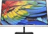 HP 27fh Monitor - 27 Zoll Bildschirm, Full HD IPS Display, HDMI, VGA, AMD FreeSync, 1920 x 1080 Pixel bei 60Hz, 5ms Reaktionszeit, höhenverstellbar, schwarz/silber