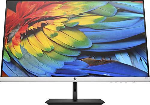 HP - PC 27FH Monitor, Schermo 27' FHD IPS, Risoluzione 1920 x 1080, Tecnologia AMD FreeSync, Tempo Risposta 5 ms (con Overdrive), Inclinazione -5 a +25°, Rotazione Base ±45°, HDMI, VGA, Nero/Argento