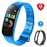 Lintelek Fitness Tracker, Activity Tracker, Color Screen Kids Band with Heart Rate, Blood Pressure Monitor, Step Counter IP67 Smart Bracelet, for Kids, Women and Men