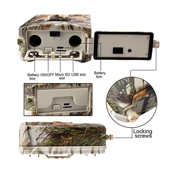 SUGERYY Hunting Trail Camera HD 1080P 42LED Wildlife Scouting Cam Night Vision IR Camera