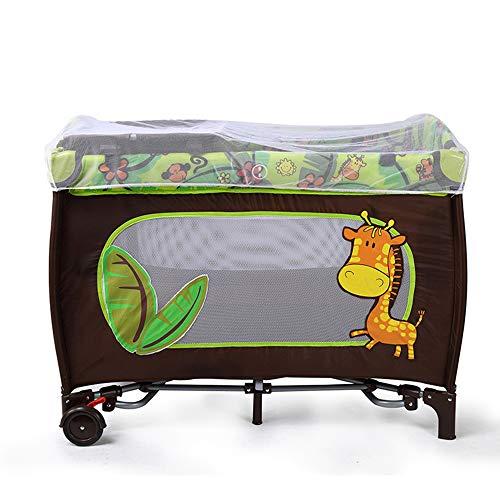 JYXZ Säugling Reisebett Bed Baby Play Pen Kinderwiege Laufgitter Eingangsbereich/Bag & Net