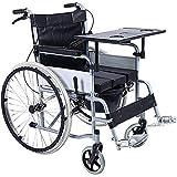 DLC@ED Rollstuhl Tragbarer Reisestuhl Leichter Transport Faltbarer Rollstuhl Aluminium Puncture Collision Einfacher Transportwagen Gehhilfen Praktisch -