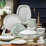 Cerámica Set Vajilla Vajilla Vajilla vajilla de Cocina de cerámica del vajilla, Blanco (Color: Blanco) yqaae (Color : White)