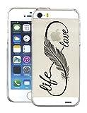 Evetane Coque Compatible avec iPhone Se / 5S / 5 Transparente Rigide Solide Love Life...