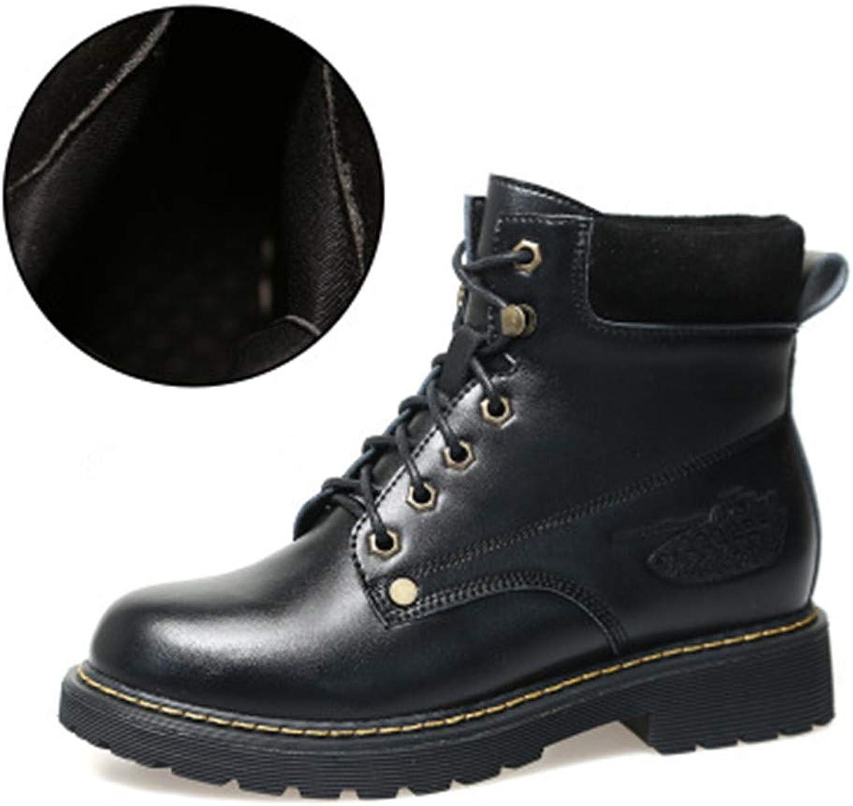 FORTUN Comfortable Women's shoes Flat Martin Boots Elegant Booties Walking