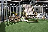 Kunstrasen Field, Rasenteppich mit Drainage-Noppen, Festmaß 100 x 200 cm, grün. Weitere Farben und Größen verfügbar - 3