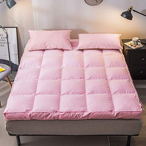 JY&WIN Sleep Mattress Topper,High elasticity Thicken Stereoscopic Mattress Breathable Eco friendly With Elastic band Fixing-pink 180x200x10cm