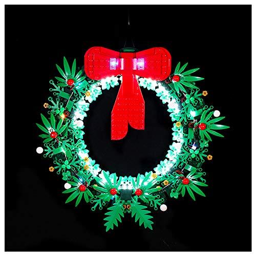 K99 Iluminación de Bloques de construcción LED, Compatible con Lego 40426 Guirnalda de Navidad Invierno Serie de Navidad, Conjunto de iluminación de Control Remoto (sin incluir Bloques),A2