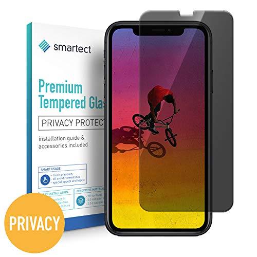 smartect Privacy Beschermglas compatibel met iPhone XR [Privacyscherm] - screen protector met 9H hardheid - bubbelvrije beschermlaag - antivingerafdruk kogelvrije glasfolie
