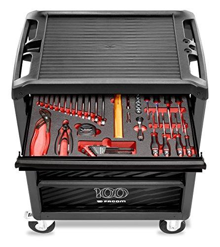 FACOM ROLL.6M3PGCM100 Carro de taller equipado - 6 cajones - Módulo de herramientas con 45 herramientas incluidas - Edición limitada 100 años
