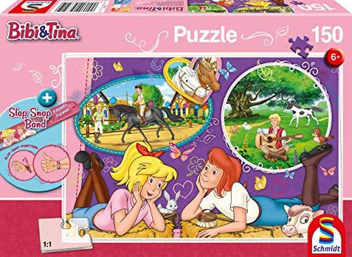 Schmidt Spiele Puzzle 56321 Bibi und Tina, Freundinnen für Immer, 150 Teile Kinderpuzzle, bunt
