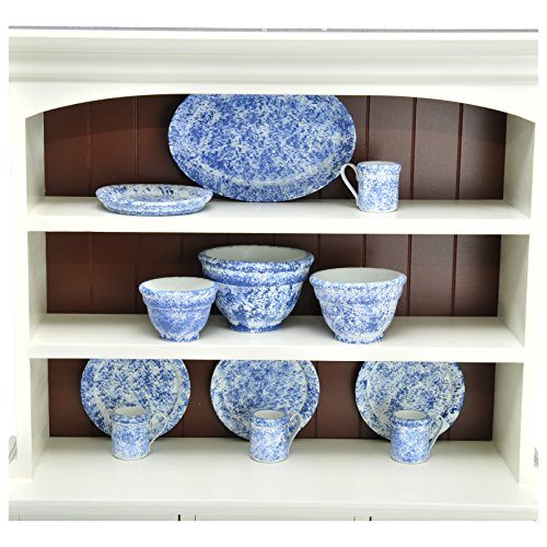 The Queen's Treasures Vintage Style Splatter Ware Serving Set Kitchen Set, 3 Nesting Bowls, Platter, 4 Dishes & 4 Cups Sized Compatible for Use with 18