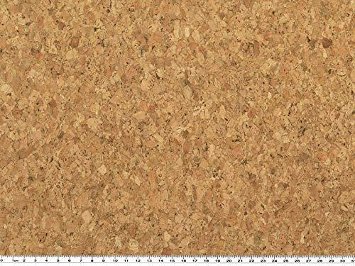 ab 1m: Korkstoff, Vorders.: Kork, Rücks. Baumwolle, natur, 140cm breit