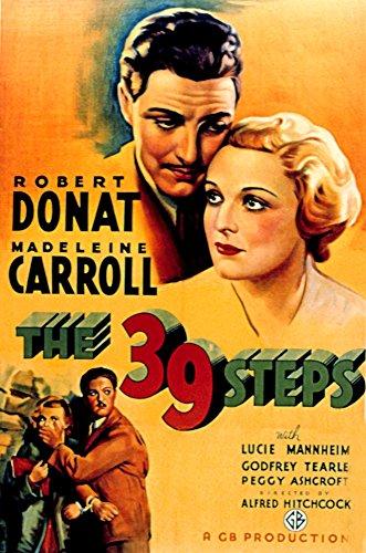 Posterazzi The 39 Steps Robert Donat Madeleine Carroll 1935 Movie Masterprint Poster Print, (24 x 36)