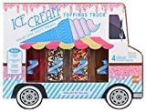 Thoughtfully Gifts, Ice Cream Toppings and Milkshake Truck, Pack of 4 Includes Chocolate/Vanilla...