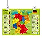 nikima - Kinder Lernposter Deutschland mit Bundesländern -