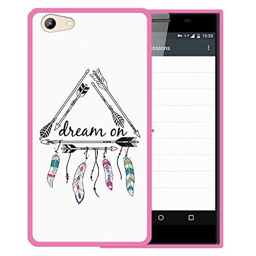 WoowCase Doogee Y300 Hülle, Handyhülle Silikon für [ Doogee Y300 ] Dream On Handytasche Handy Cover Case Schutzhülle Flexible TPU - Rosa