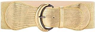 حزام عريض مرن من الجلد الصناعي للنساء والسيدات فستان مطاطي أحزمة خصر سميكة