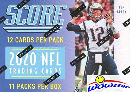 2020 Score NFL Football EXCLUSIVE HUGE Factory Sealed Retail Box with 132 Cards & MEMORABILIA! Look for Tom Brady Tribute Cards & ROOKIES & AUTOS of Joe Burrow, Tua Tagovailoa & Many More! WOWZZER!