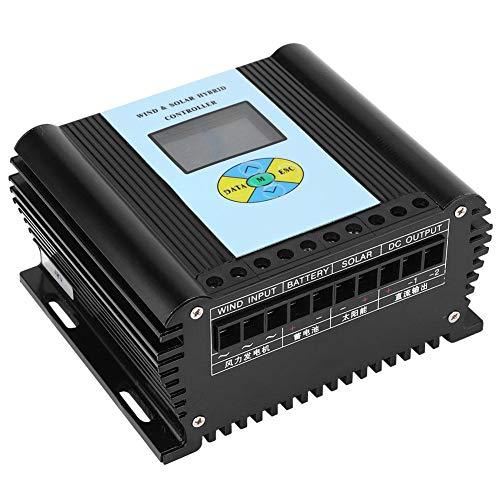 Qinlorgon Wind-Solar-Hybrid-Controller, Wind-Solar-Hybrid-Controller LCD-Display mit Remote-Kommunikationsfunktion für zu Hause(48V)