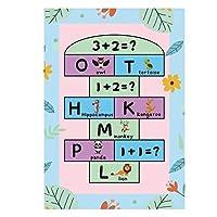 カーペット 敷物子供のフランネルカーペット動物パズルゲームベビープレイ長方形カーペットのために学ぶ (Color : D59, Size : 60x180cm)