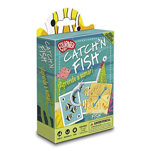 Fournier- Catch´n Fish. Aprende a Sumar Juego de Cartas Educativo Infantil, Multicolor (1040718)