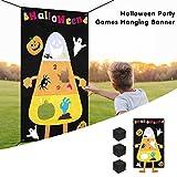 sakulala Juego de Lanzamiento de pancartas de Fieltro con 3 Bolsas de Frijoles, Divertido Juego de Fiesta de Halloween para Interiores y Exteriores para niños o Adultos