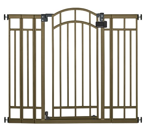 Summer Infant Multi-Use Deco Extra Tall Walk-Thru Baby Gate, Bronze