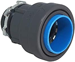 """Southwire LTNM-BC-100 1"""" Liquid Tight Non-Metallic Push Install LT Box Connector, Gray"""