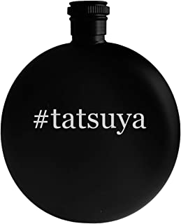 #tatsuya - 5oz Hashtag Round Alcohol Drinking Flask, Black