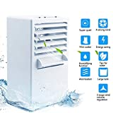 Portable Air Conditioner Fan Mini Evaporative Air Cooler Small Misting Swamp Cooler Noiseless