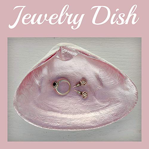 Salt Water Heals Everything Shell Dish - Soap Dish, Spoon Rest, Ring Holder, Jewelry Holders, Trinket Dishes, Catchall Bowl - Ocean Accessories - Home Decor For Bedroom, Bathroom, Kitchen, Office